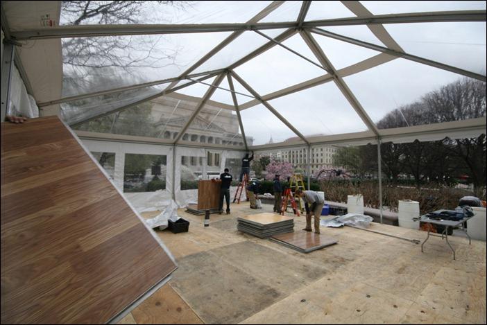 Skyline Tent Floor Install