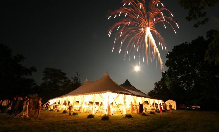 Marth Stewart Wedding Skyine Tent