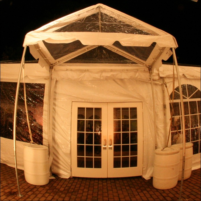 Clear Entrance Tent WIth Door