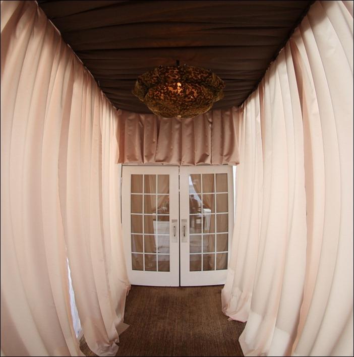 Tent Door with Draping