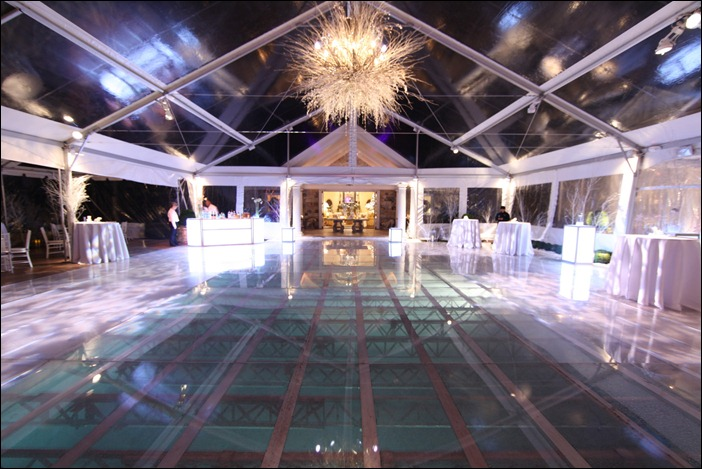 Clear top with clear pool cover skyline tent