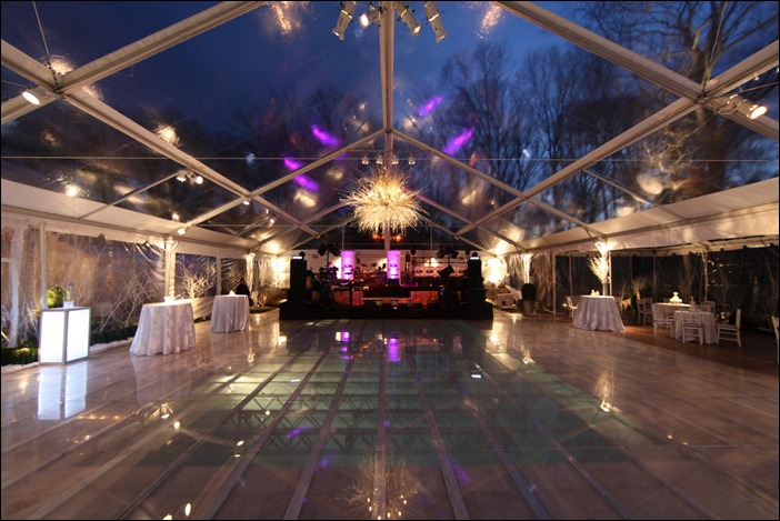 Clear floor over pool Skyline Tent
