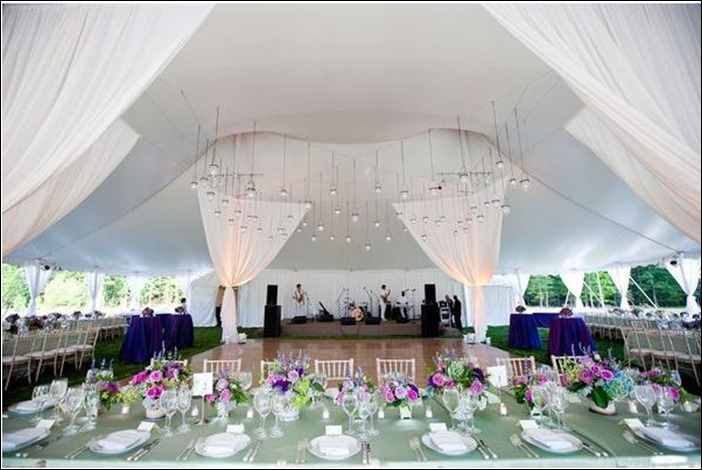 just featured in the Style Me Pretty wedding blog We used giant drapes