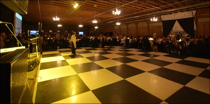 Colts Neck Black and White Dance floor