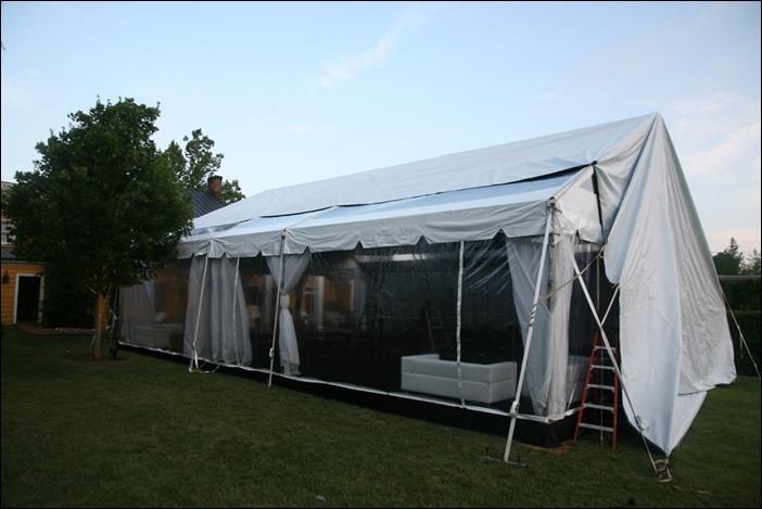 Clear Tent with AC Inn at Little Washington 6.21.11