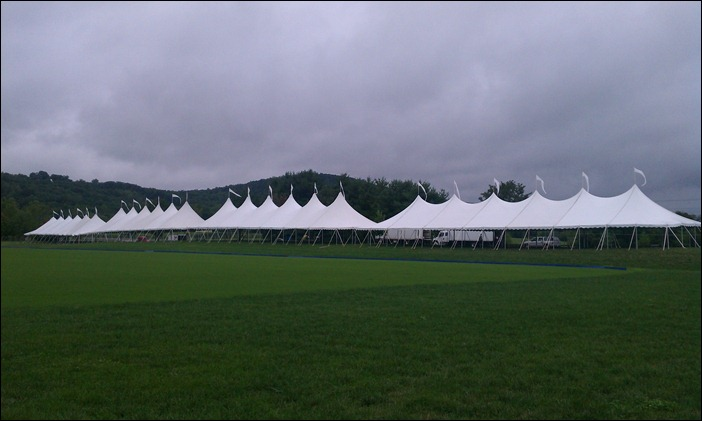 Tenting in the rain
