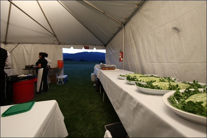 King Family Vineyards Catering Tent