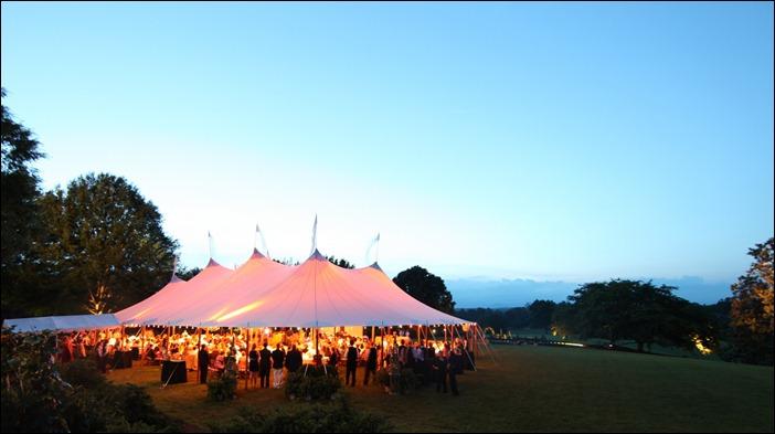 Tented Back Lawn Wedding Farmington Country Club