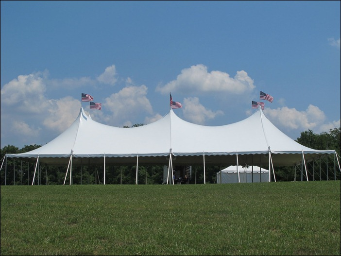 A clean tent at Great Meadows!