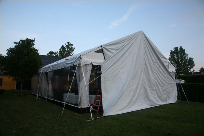 Skyline Tent clear structure with leveled subfloor