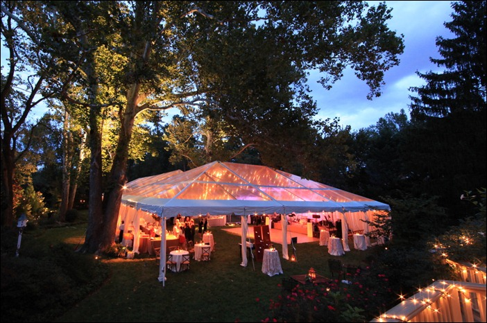 An evening wedding in Richmond with Skyline Tent Company Clear Tents : skyline tents - memphite.com