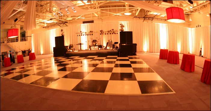 Transform a gym into an event space with Skyline Tent Company