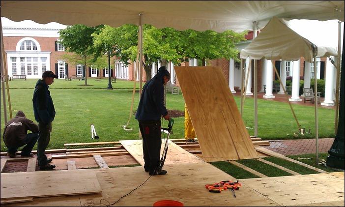 Darden School Tent floor