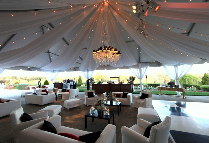 Skyline Tent Chandelier & The Sky Line: Fabric Draping
