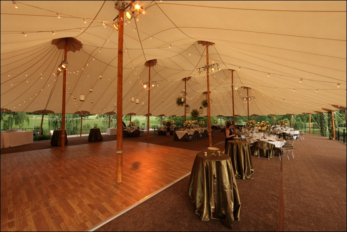 Bistro Lighting in Sperry Tent