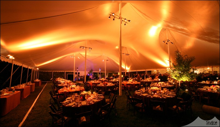 Skyline Tent  Lighting Wash