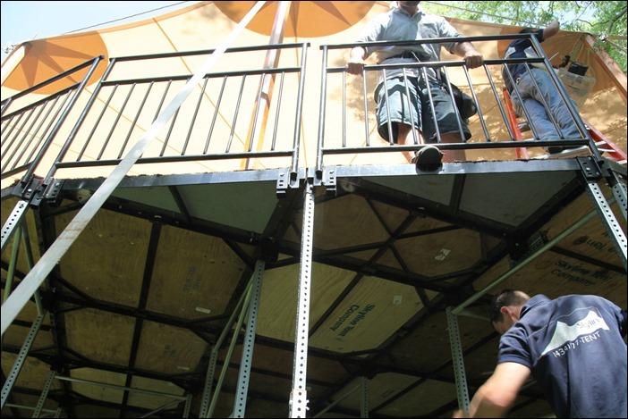 Skyline Tent Leveled Floor for wedding
