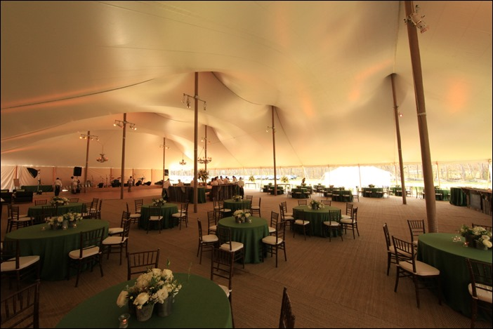 80x130 Century Tent with Custom lighting by skyline tent company