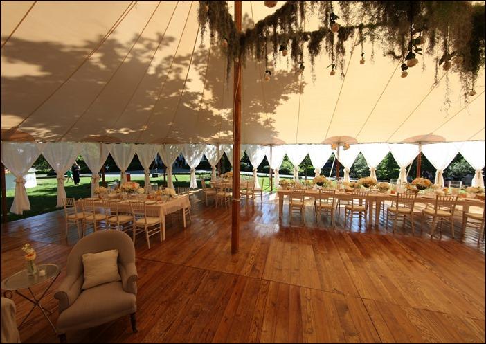 Sperry Tent with Custom Plank Floor