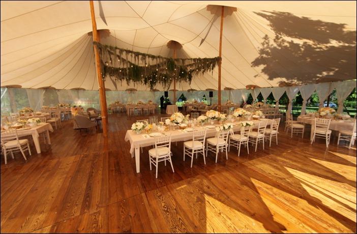 Sperry Tent Custom wood Floor.
