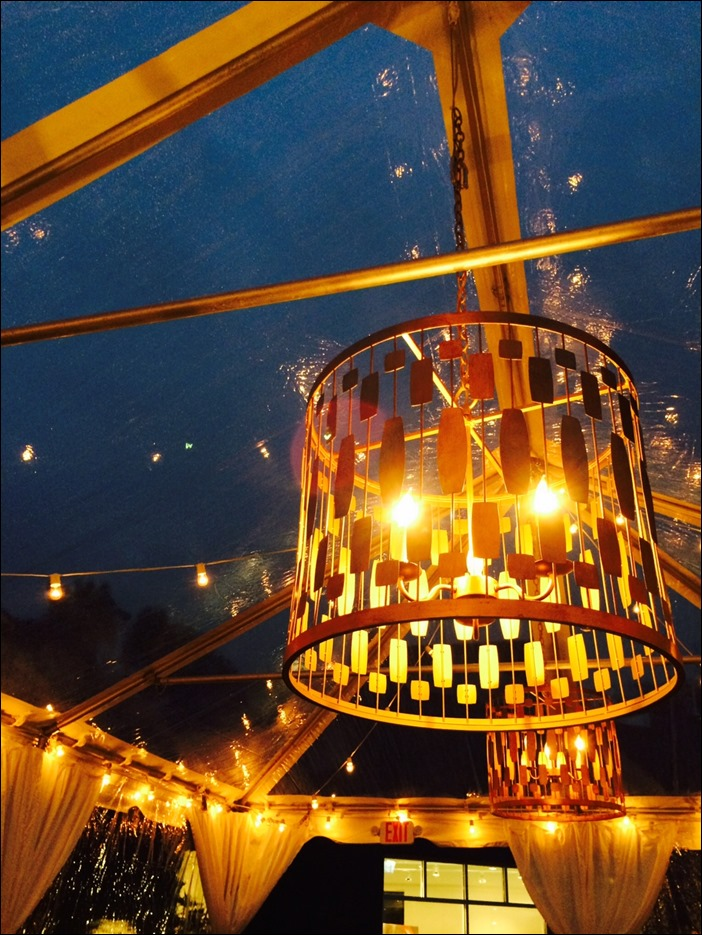 Skyline Tent Gold Leaf Chandelier