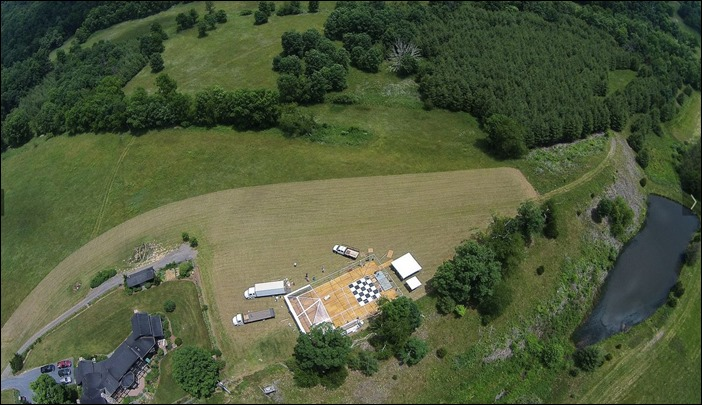 Drone shots Skyline Tent Company