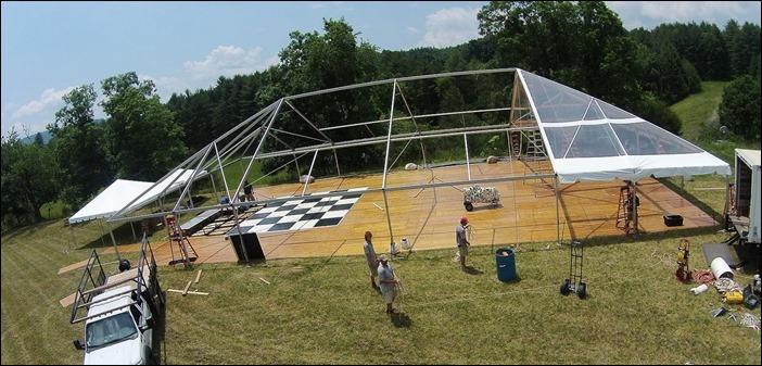 Skyline tent Company Drone shots