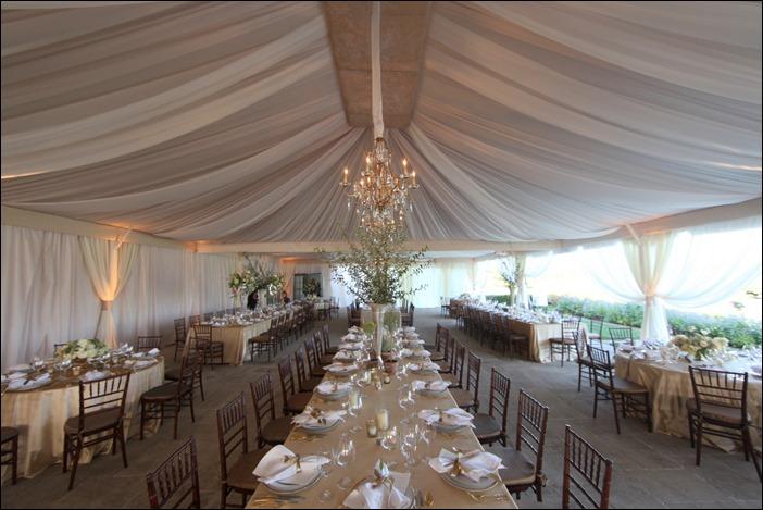Skyline Tent Company Wedding reception Keswick Hall