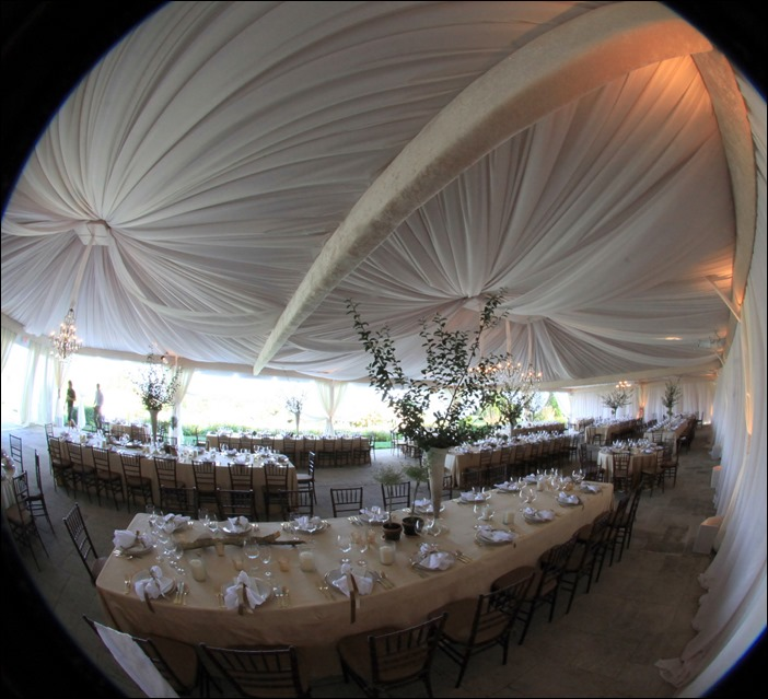 Skyline Tent Draping at Keswick Hall