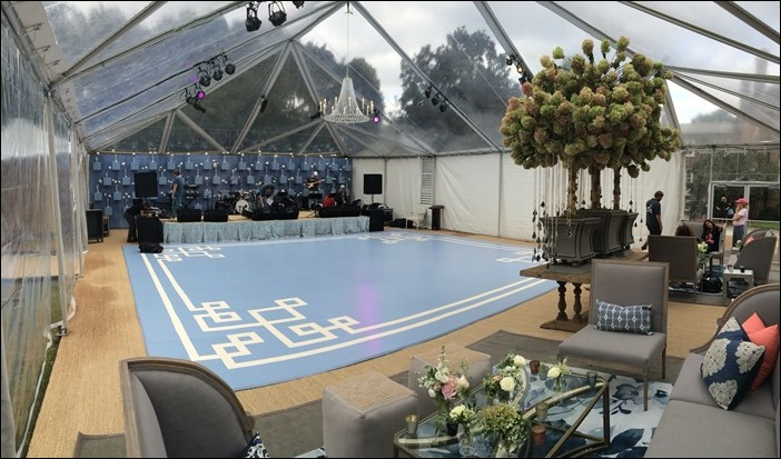 Clear top dance tent with ac
