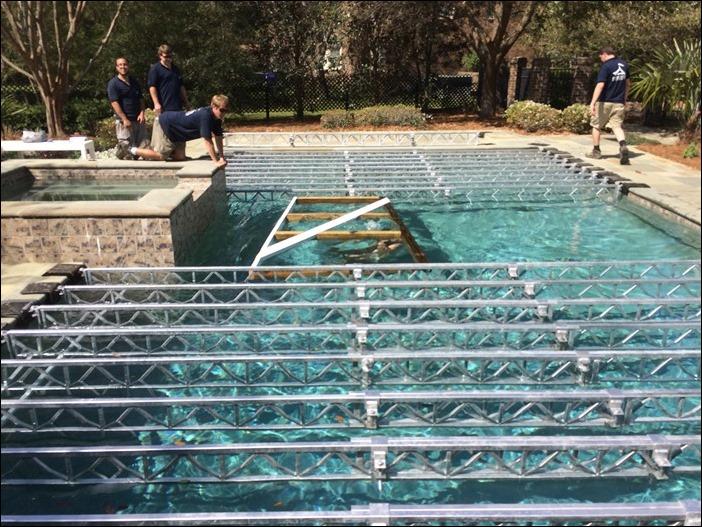 pool trussing