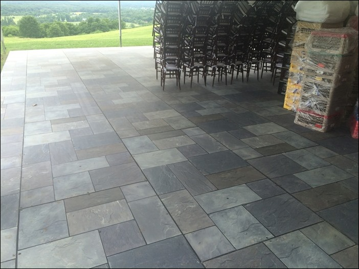 Cutstom Stone Tent Floor