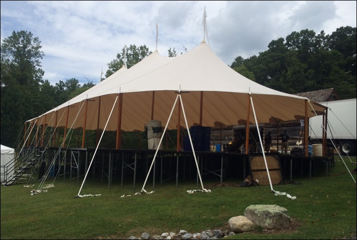 Sperry Tent on Elevated Floor Skyline Tent Insall & The Sky Line: Handmade Sperry Sailcloth Tents