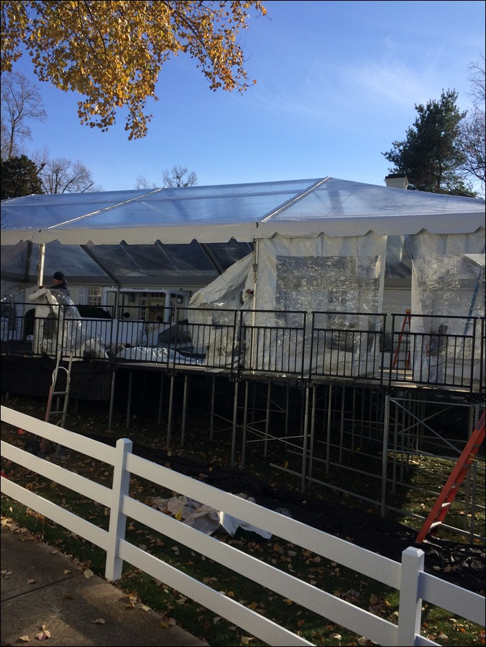 clear top with sidewall skyline tent company