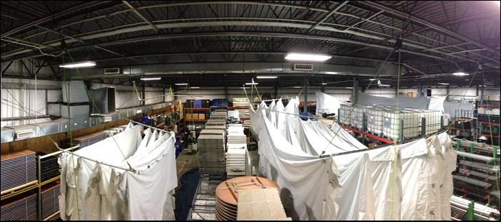 Sidewall Drying at Warehouse